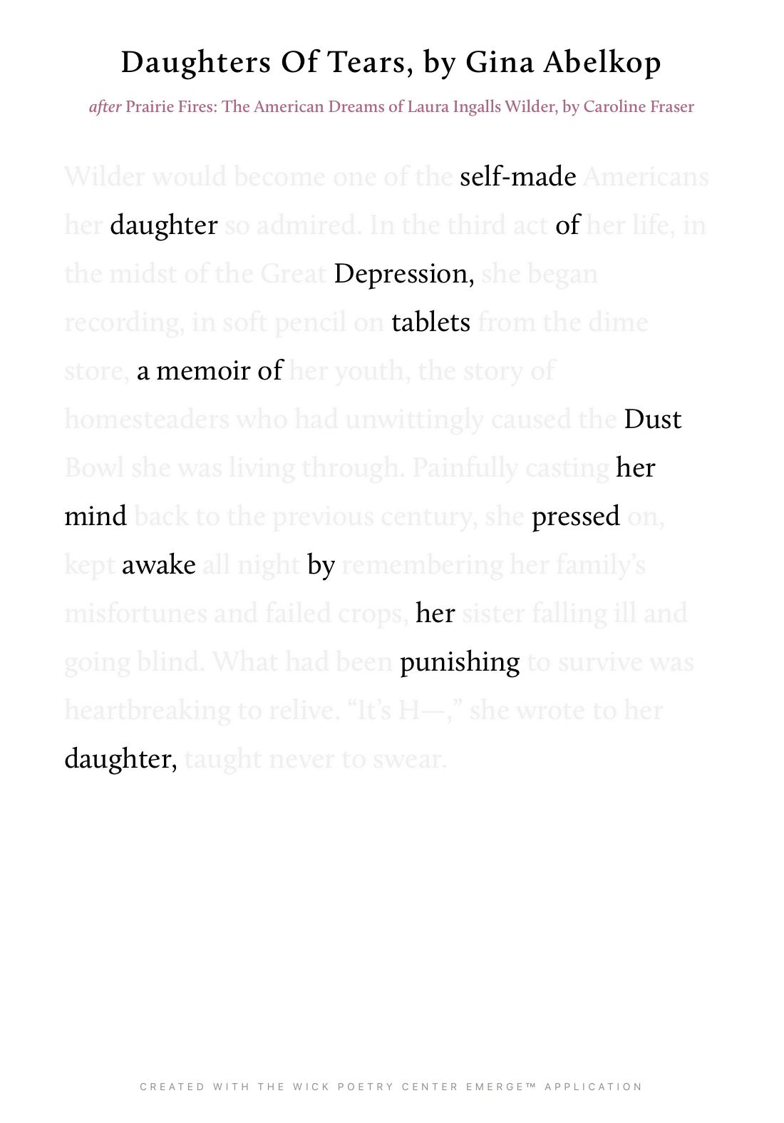 Daughters Of Tears