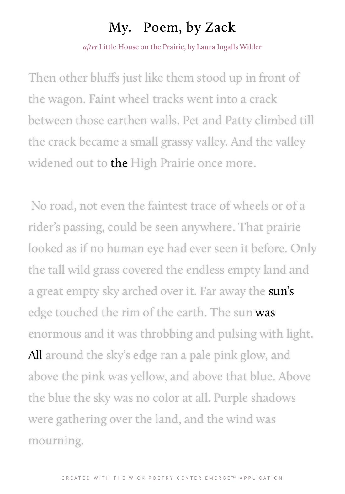 My.   Poem