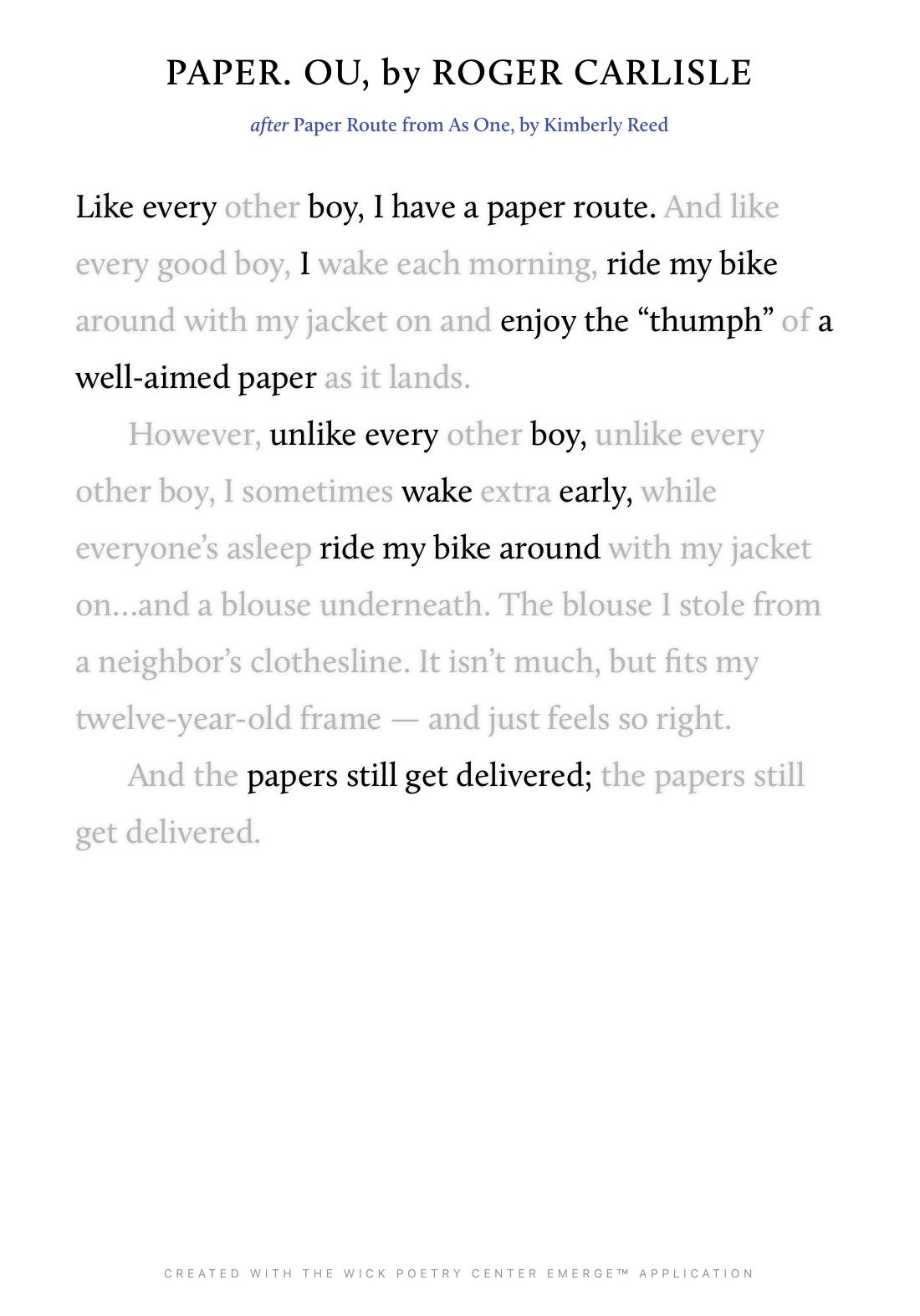 PAPER. OU