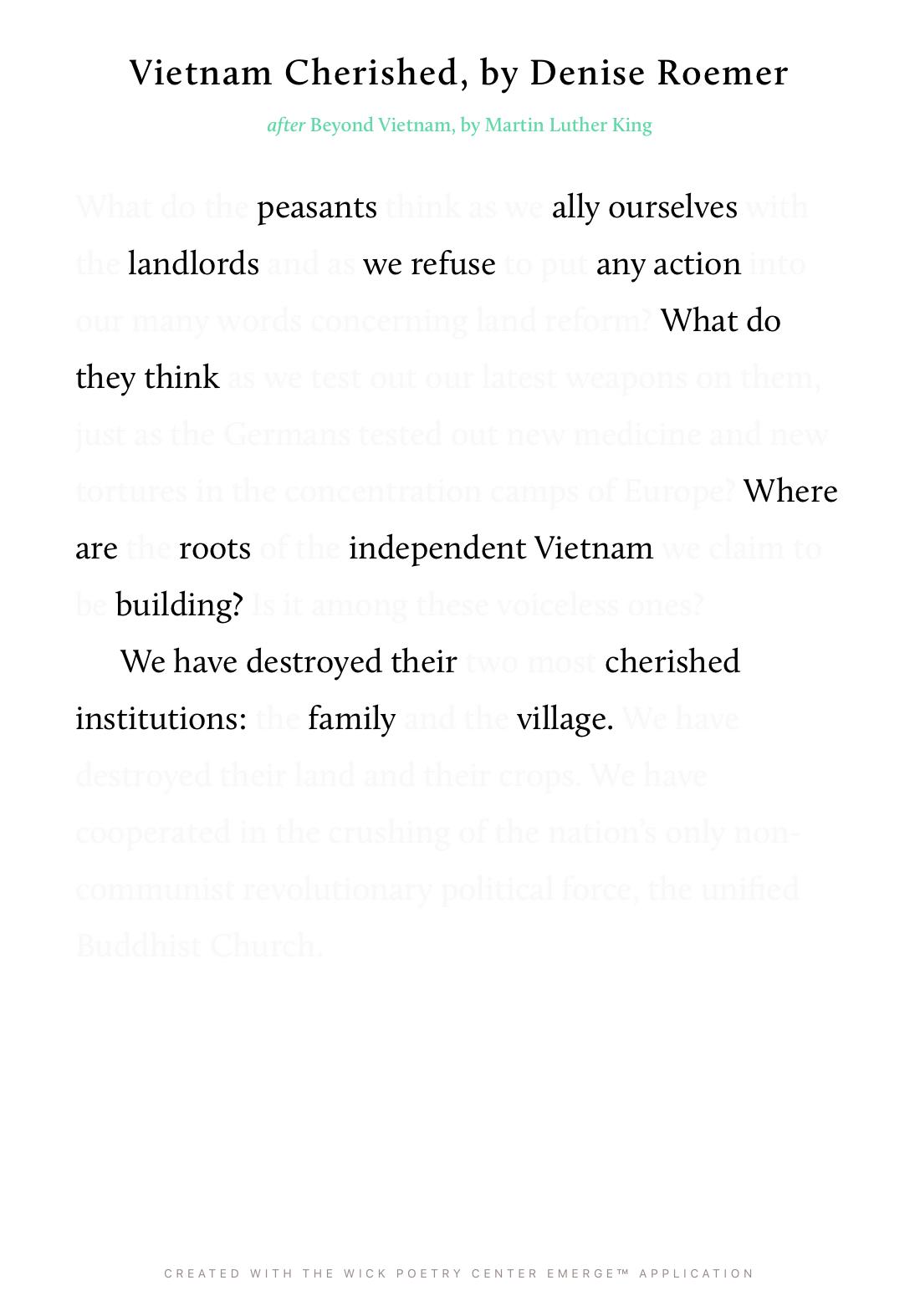 Vietnam Cherished