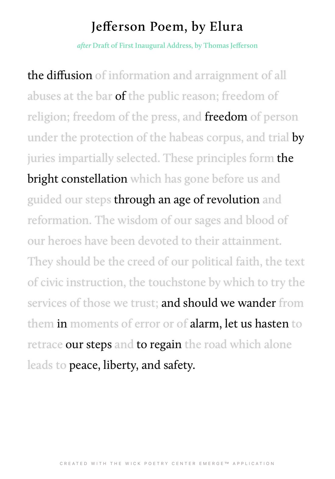 Jefferson Poem