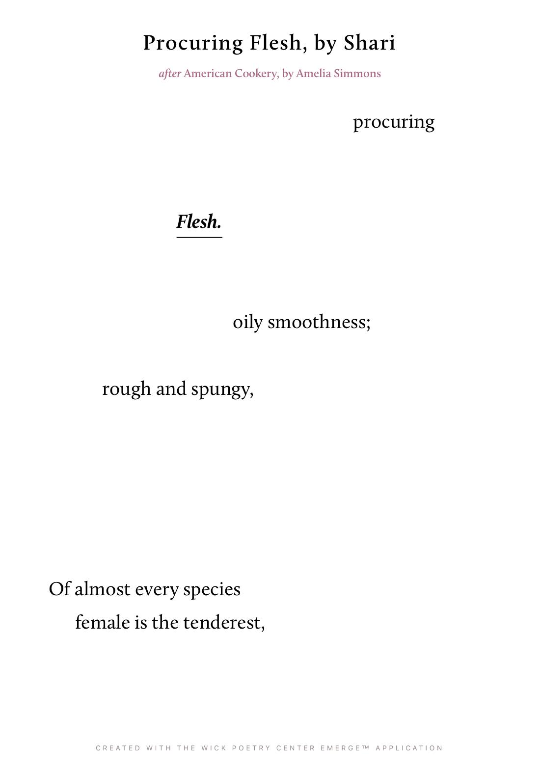 Procuring Flesh