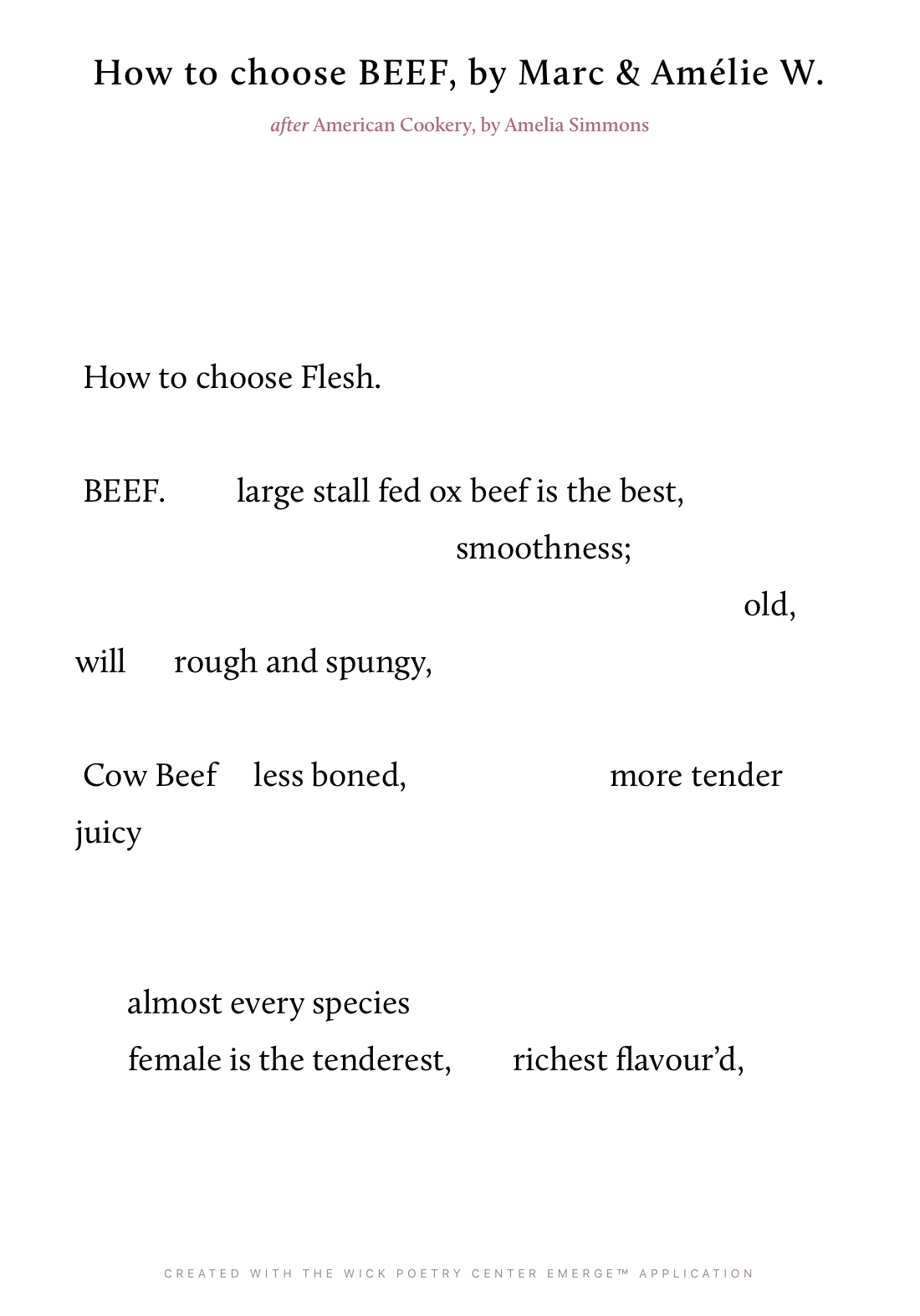 How to choose BEEF