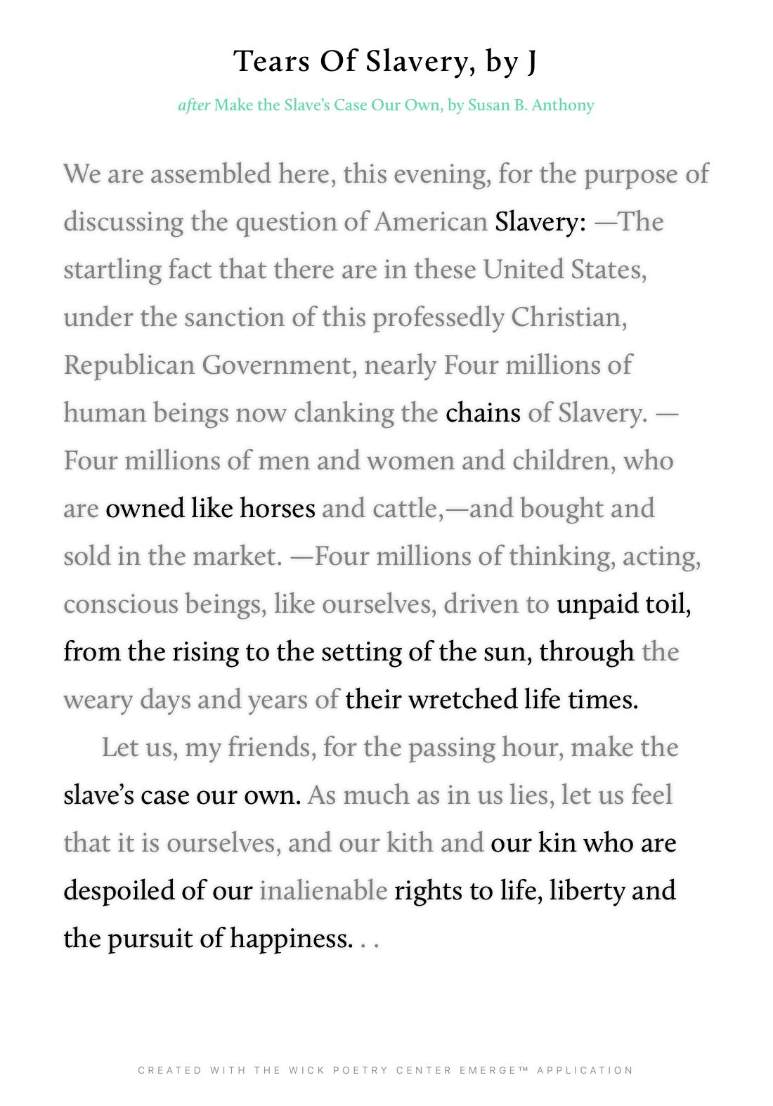 Tears Of Slavery