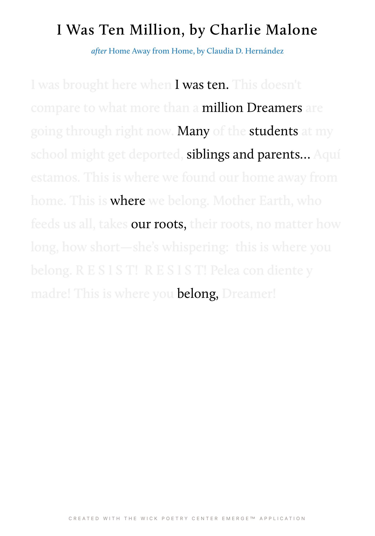 I Was Ten Million