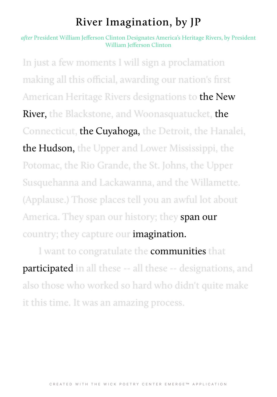 River Imagination