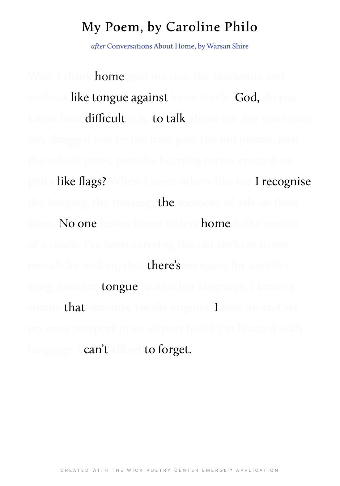 My Poem