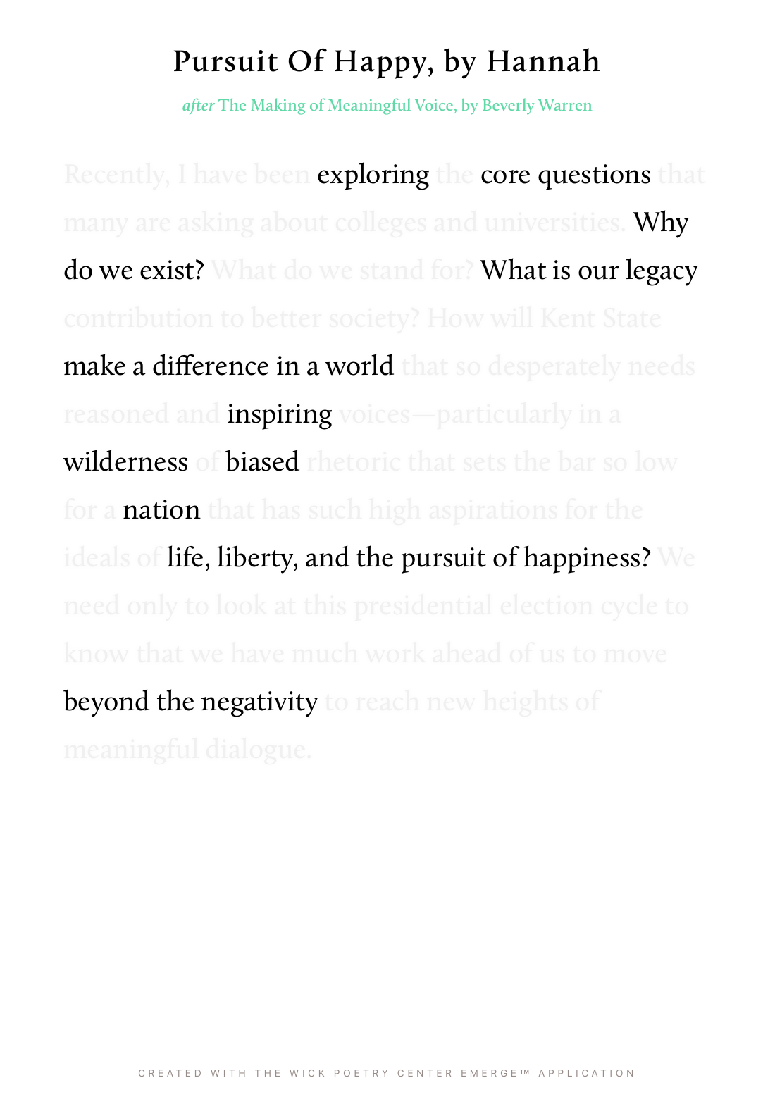 Pursuit Of Happy