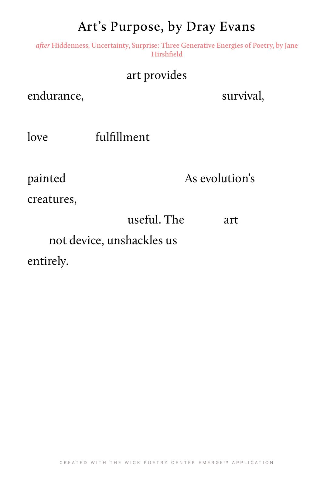 Art's Purpose