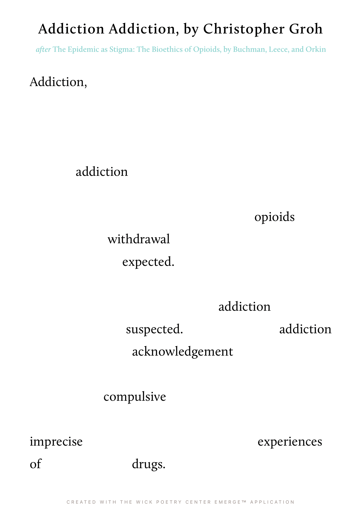Addiction Addiction