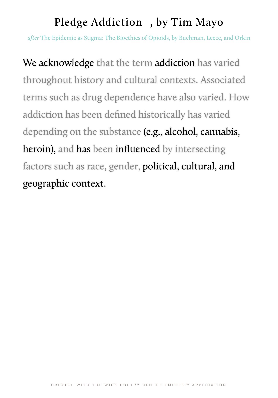 Pledge Addiction